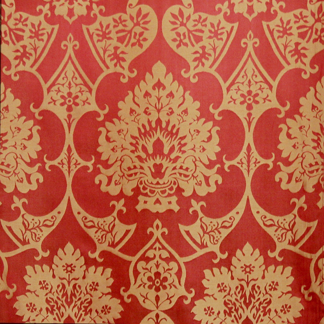 Gothic Silk Damask - Sarum Red & Gold - Watts & Co. (international)