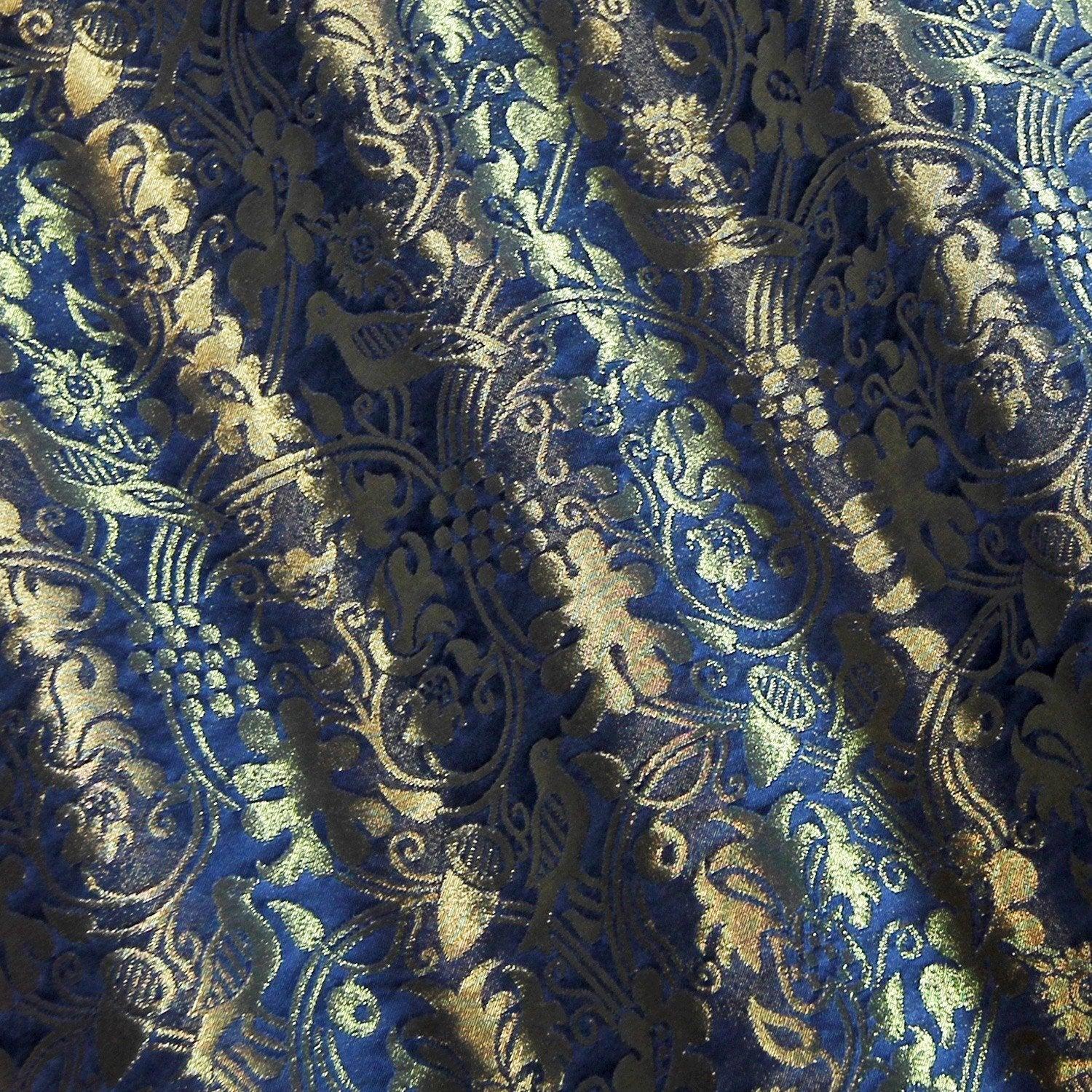 Hilliard Silk Damask - Blue & Gilt - Watts & Co. (international)