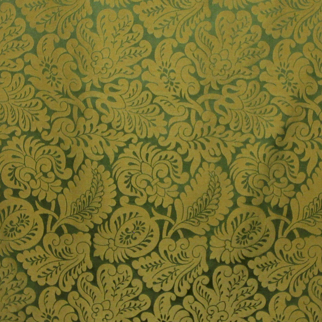 Holbein Silk Damask - Green & Gold - Watts & Co. (international)