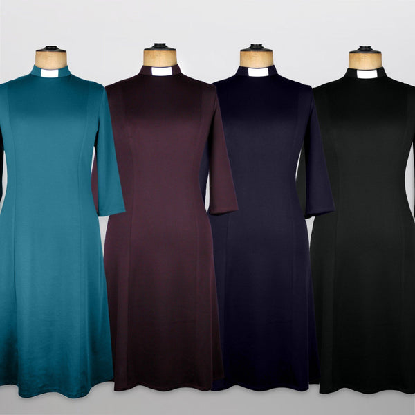 Lucia Teal Jersey Clergy Dress - Watts & Co. (international)