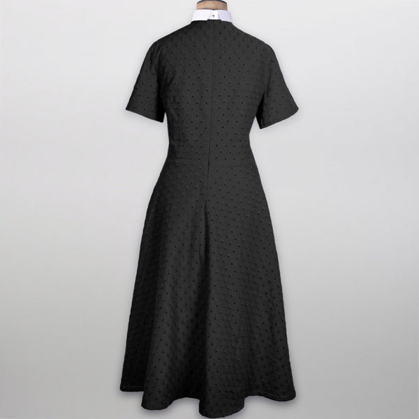 Orelia Black Summer Dress with full clerical collar - Watts & Co. (international)