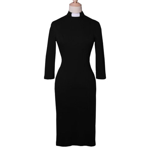 Organic cotton black clergy dress - Watts & Co. (international)