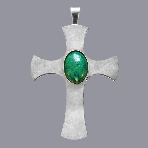 Pectoral Cross Green Amazonite Stone - Watts & Co. (international)