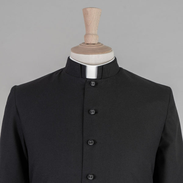 Single Breasted Minister Cassock<br>Lightweight Pure Wool - Watts & Co. (international)