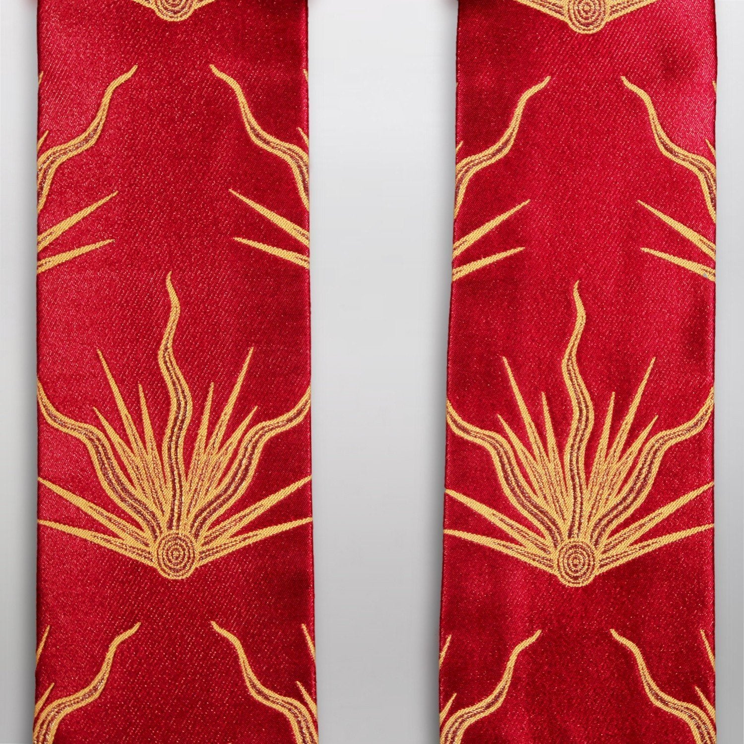 Tufton Stole in Red Pentecost Brocade - Watts & Co. (international)