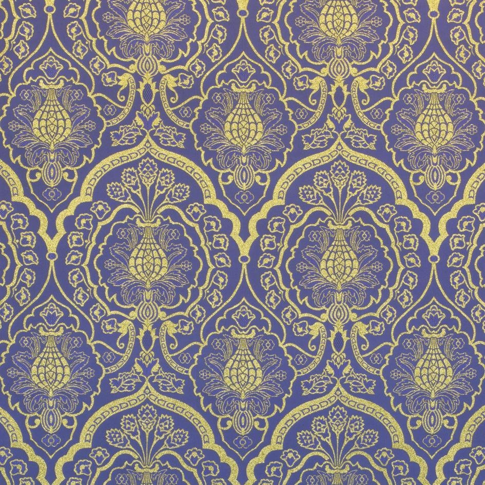 Wakefield Brocatelle - Violet & Gold - Watts & Co. (international)
