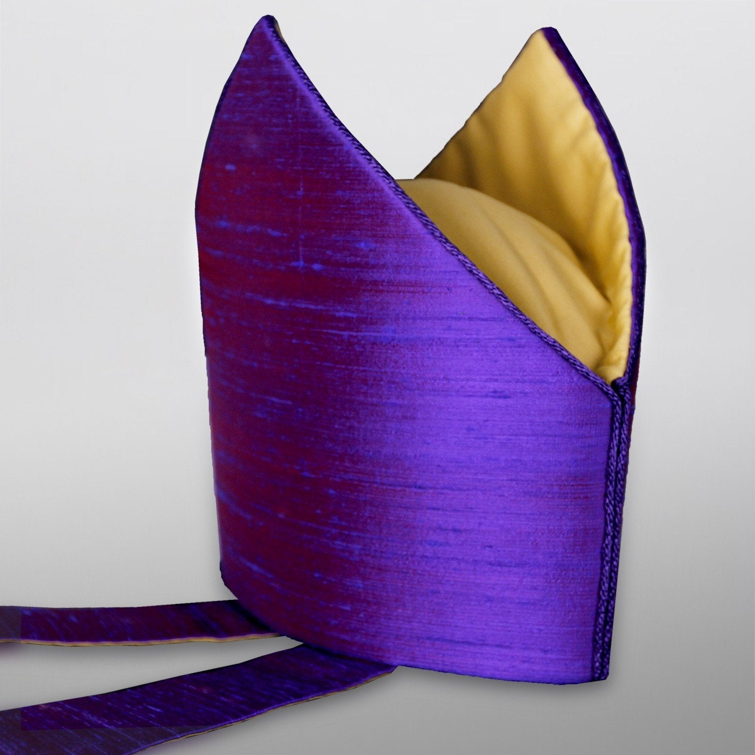 Watts Standard Mitre in Purple Dupion Silk - Watts & Co. (international)