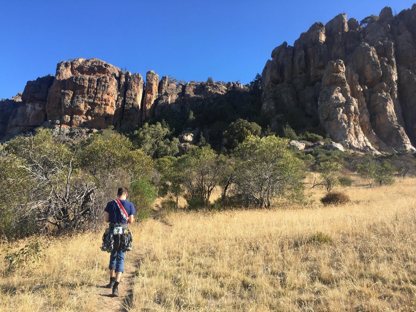 Walking up to the Organ Pipes