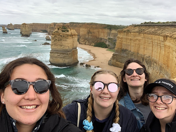 Girls at the 12 Apostles
