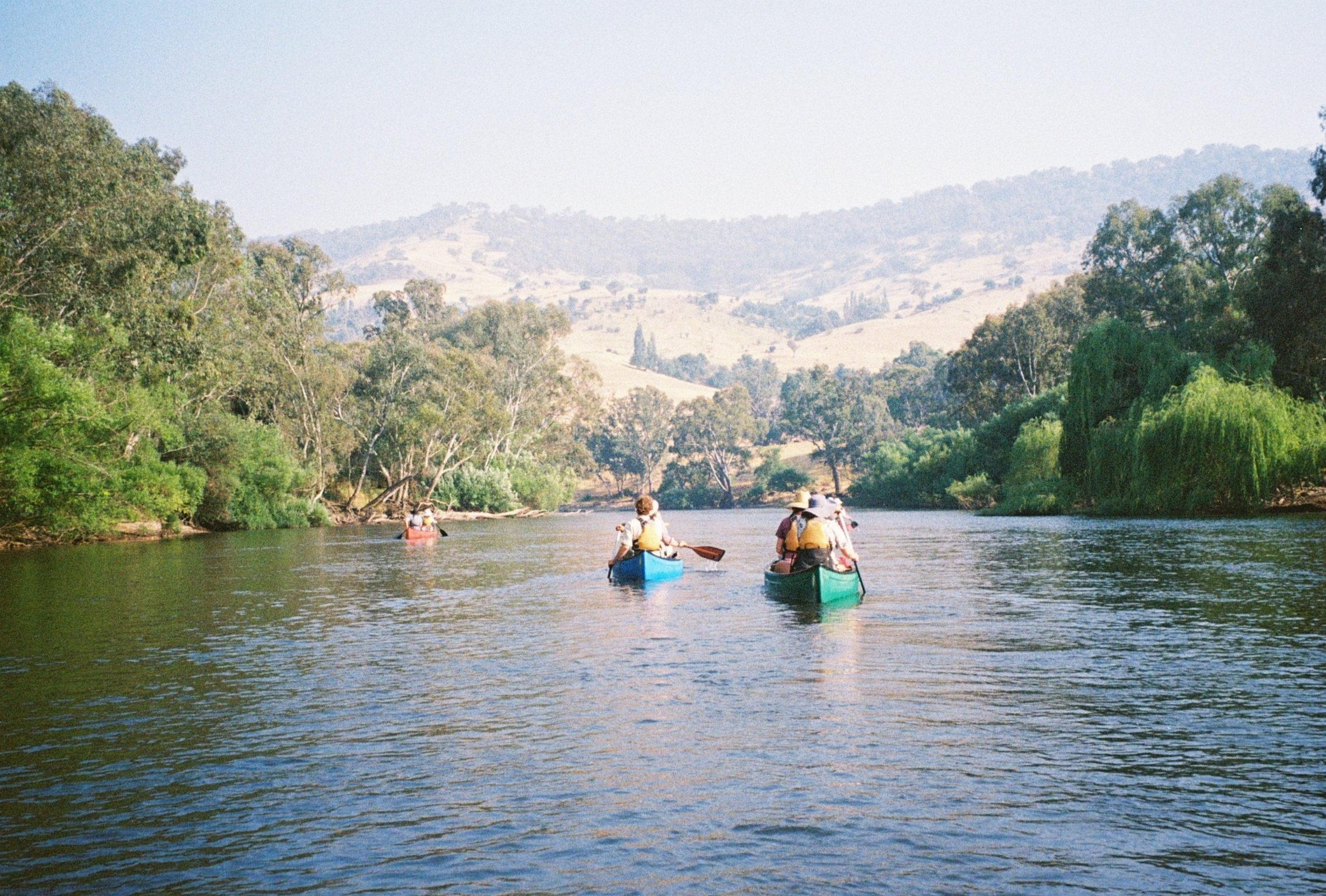Canoers on the Murray River