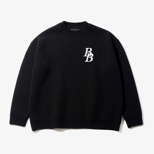 B LOGO WOOL SWEATER