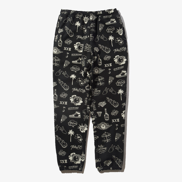 GRAFFITI SWEAT PANTS BLK