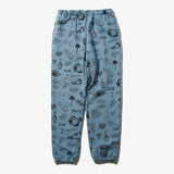 GRAFFITI SWEAT PANTS BLUE