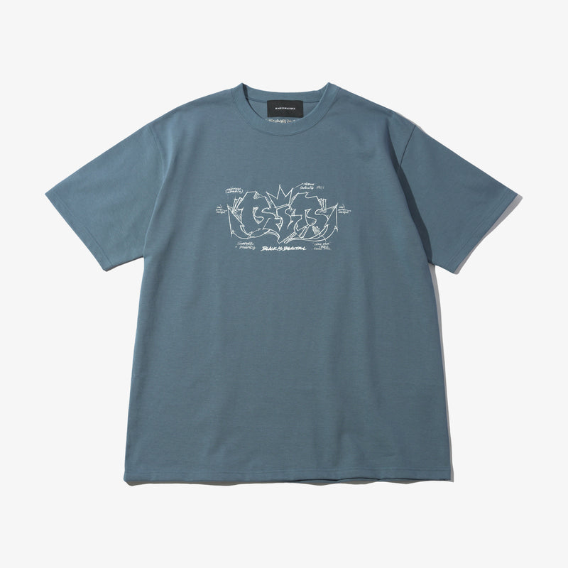 GRAFFITI HEAVY WEIGHT TEE BLUE GRAY