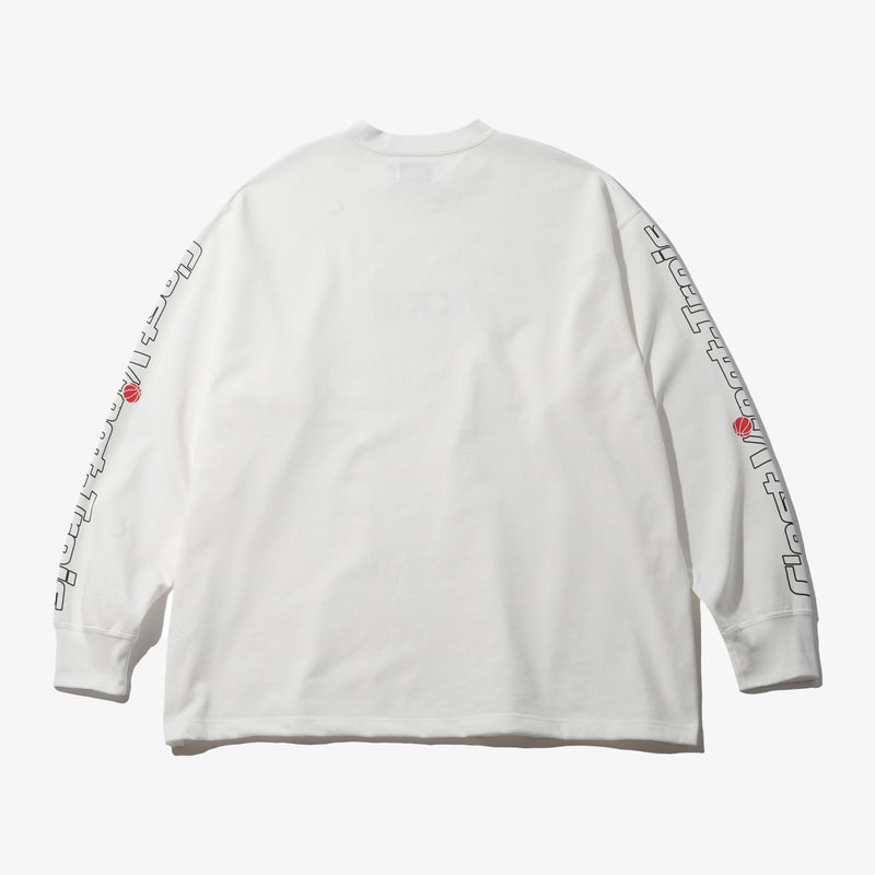 HOOP HEAVY WEIGHT L/S TEE WHT