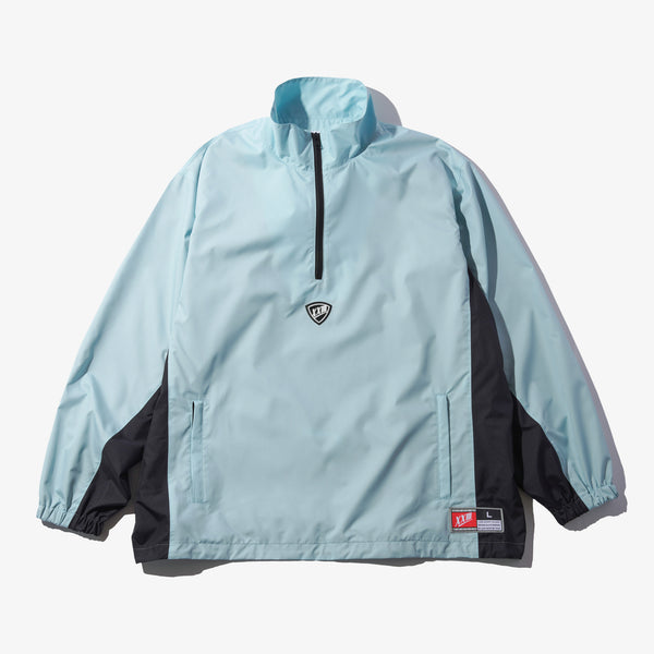NYLON HALF ZIP JACKET LIGHT BLUE