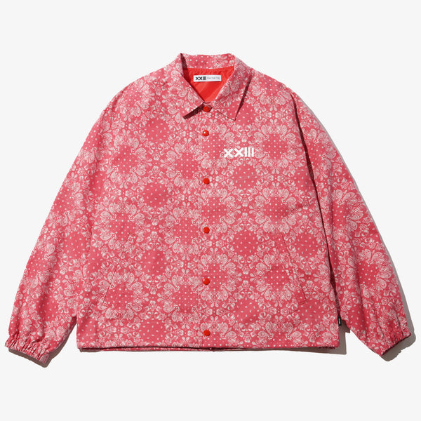 PAISLEY COACH JACKET RED