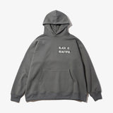 BOX LOGO HEAVY WIDE HOODIE CHARCOAL GREY