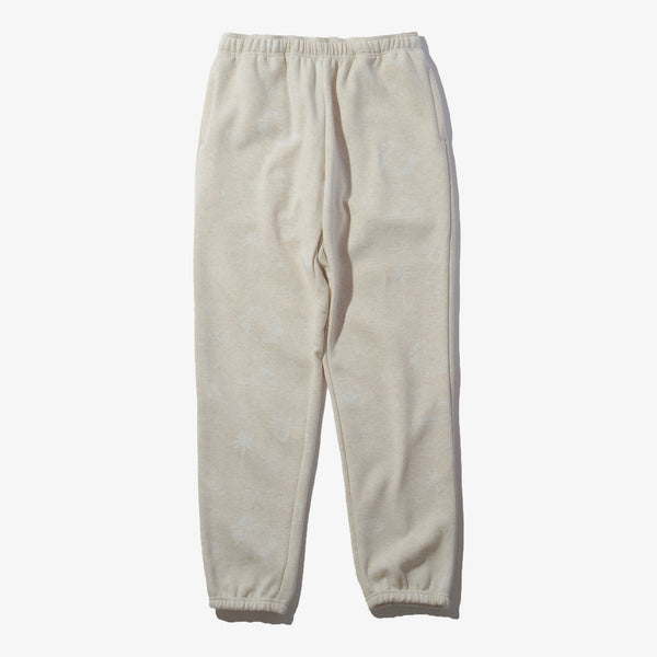 GRAFFITI SWEAT PANTS OATMEAL