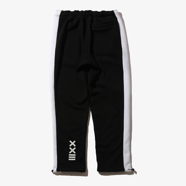 SWEAT PANTS BLK/WHT