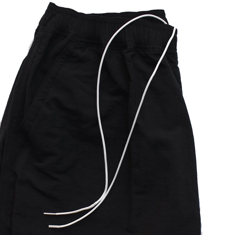 NYLON ANKLE TAPERED PANTS BLK
