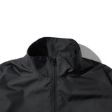 NYLON HALF ZIP JACKET BLK