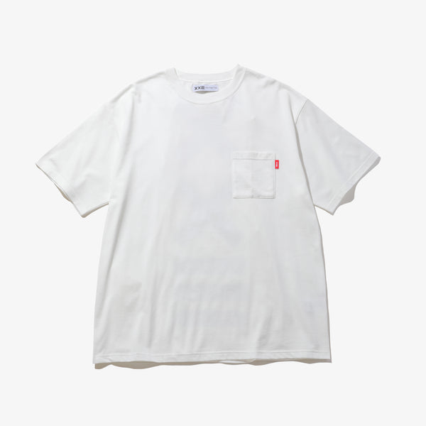LOGO POCKET TEE WHT