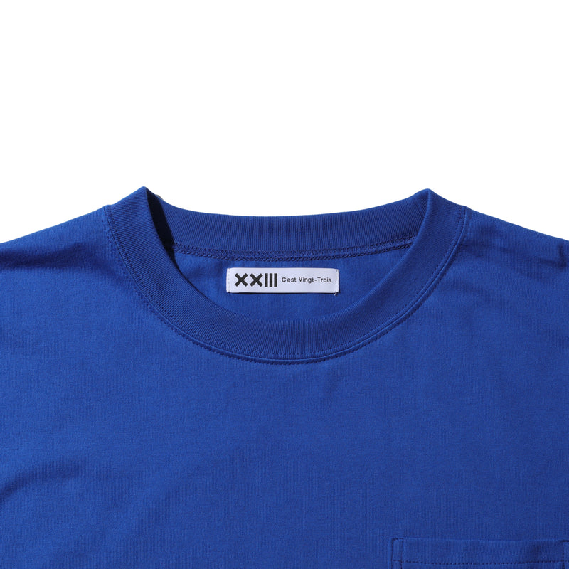 LOGO POCKET TEE BLUE