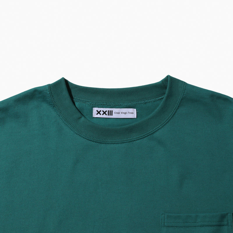 LOGO POCKET TEE GREEN