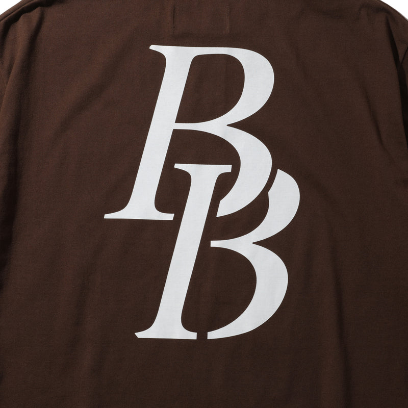 B LOGO TEE BROWN