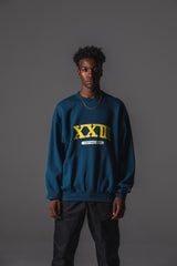 COLLEGE CREW SWEAT NAVY