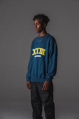COLLEGE CREW SWEAT BLK