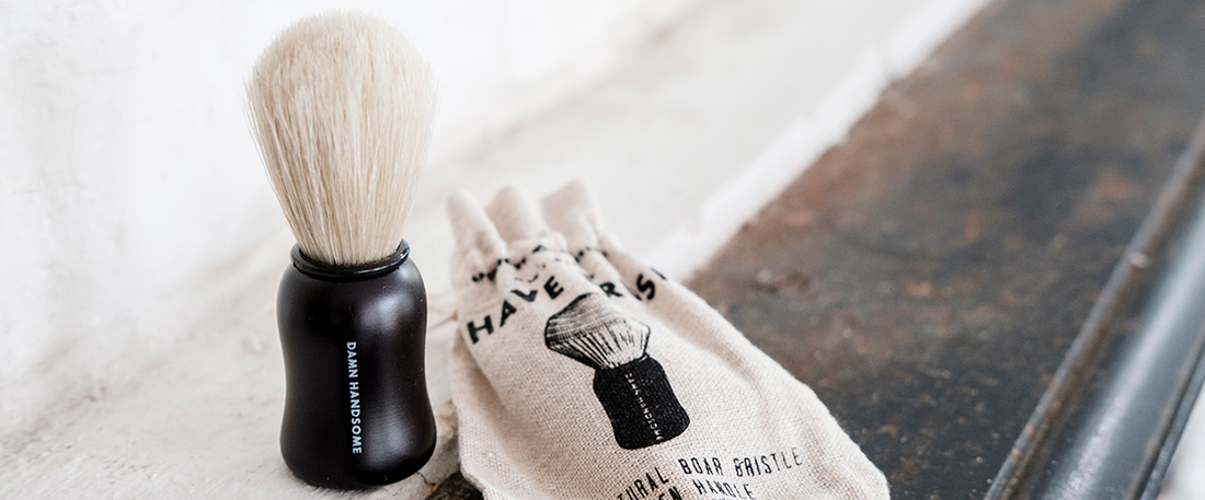 Shave brush from Men's Society