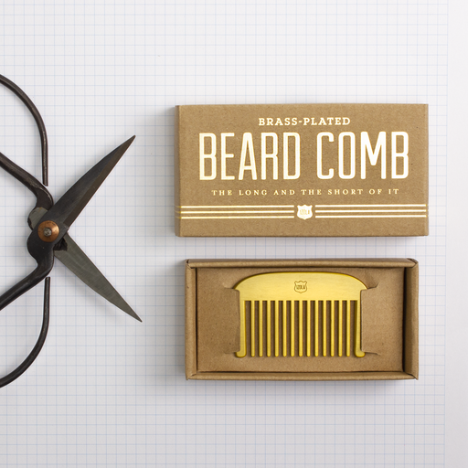 Brass Beard Comb - The Long & Short of It | Beard Gifts