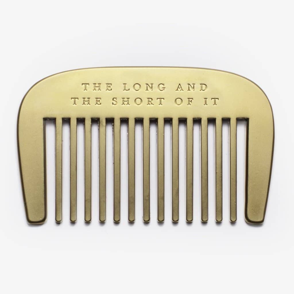 Brass Beard Comb - The Long & Short of It