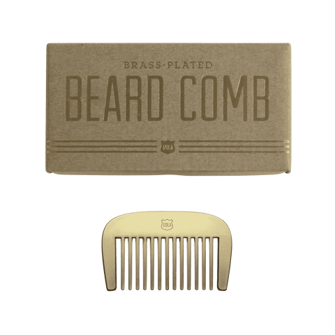 Brass Beard Comb - Men's Society