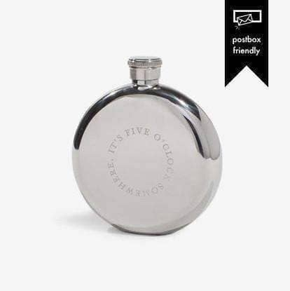 Five O'clock 5oz Hip Flask - Men's Society | Gifts For Whiskey Drinkers
