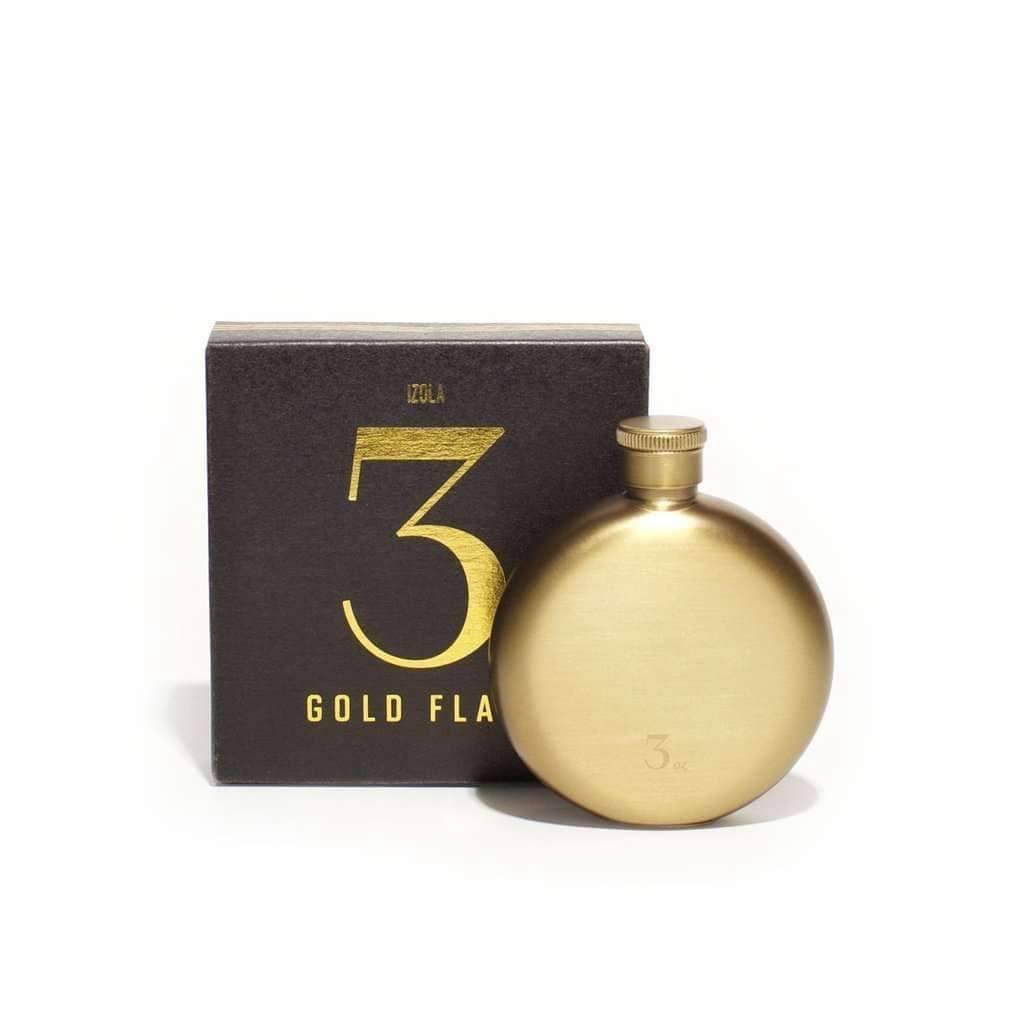 Gold Hip Flask - 3oz. | drinks gifts and barware | Men's Society