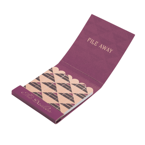 Matchbook Nail Files - Plum | Gifts for men | Men's Society
