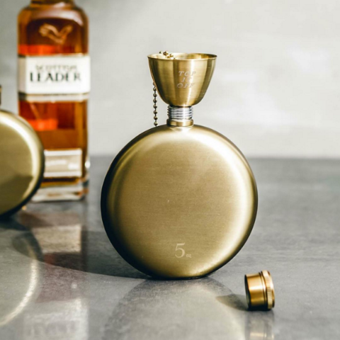Gold Hip Flask - 5oz.