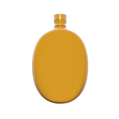 Odeme Hip Flask - Yellow - Men's Society