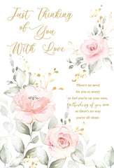 Pretty Floral Thinking of You Card