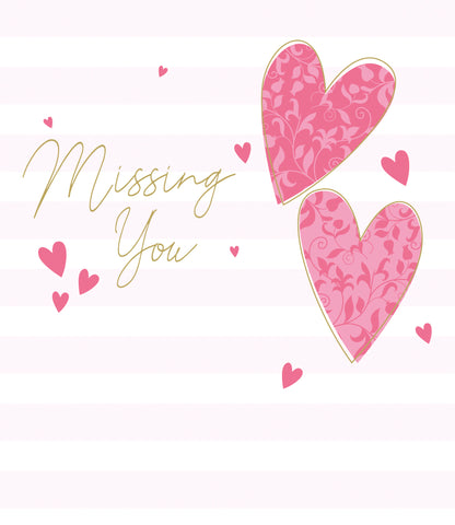 Missing You card with heart detail