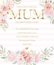 Load image into Gallery viewer, For a Very Special Mum- Modern/Pretty Mothers Day Card