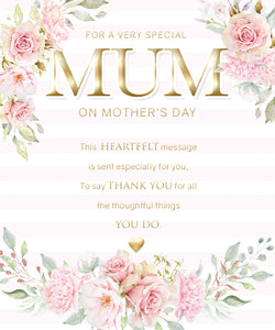 For a Very Special Mum- Modern/Pretty Mothers Day Card