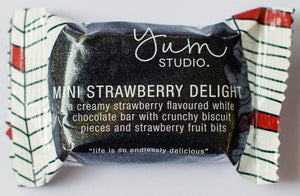 Mini Delights Chocolate Bar - Strawberry 15g x 20 units Ambient