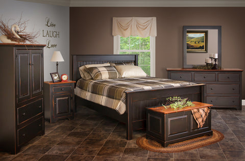 honorwood bedroom country accents solid wood american made pine furniture