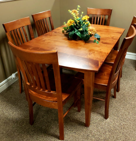 solid wood maple cherry dining set chairs american made custom