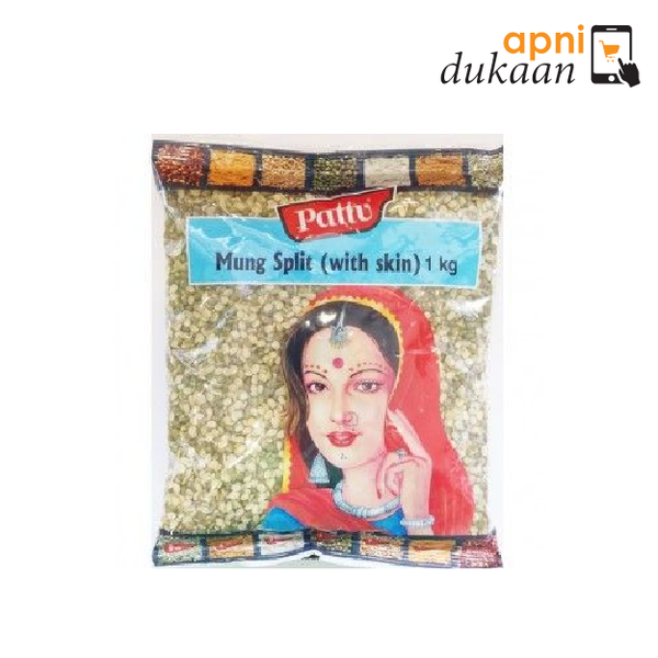 Pattu Moong Split (Chilka) 1kg - Apni Dukaan