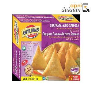 Khatir T Chatpata Potato Samosa 250g (12 pc) - Apni Dukaan VIC